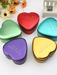 Personalize Heart Shaped Metal Favor Box - Set of 24 (More Colors)