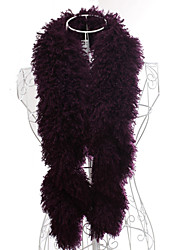 Scarves Feather/Fur White / Gray / Purple Party/Evening