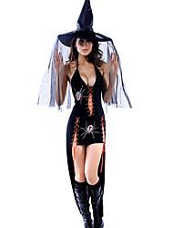 Women Sexy  Black Widow Gown Halloween Costume