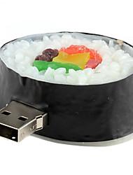 8 Go Sushi arrondi en forme USB 2.0 Flash Drive (Noir)