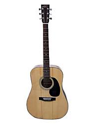 "recordingking - (RD-36) 41"" Solid Citka Spruce Dreadnought Acoustic Guitar with Bag/Strap/Picks/Wrench"