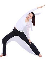 Spandex Yoga Casual Sportswear Suits 3 Sätze (Langarm Yoga T-Shirt + Yoga Pants)