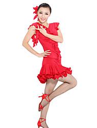 dancewear superior viscosa baile latino y falda para las damas