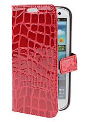 Krokodilmuster PU-ledernen Kasten mit Standplatz für i9300 Samsung-Galaxie s3