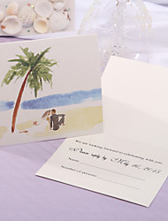 Personalize Wedding Response Card - Beach Theme (Set of 50)