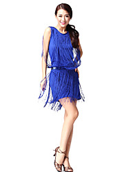 Dancewear Cotton and Polyester with Tassels Latin Dance Top and Bottom For Ladies More Colors