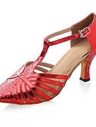 сверкающий блеск / искусственная кожа верхних танцевать бальные туфли латинские / современная обувь для женщин больше цветов