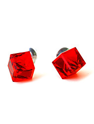 cube boucles d'oreilles colorées en cristal
