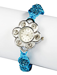 Charming Blue Fabric Quartz Dress Watch