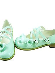 Light Green PU-Leder 2cm flache Land Lolita Schuhe