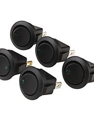 Car OFF / ON Interruptores basculantes con indicador de luz verde (5-piece Pack, 12V)