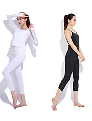 Yoga Casual Sportswear Suits 3 Sätze (Langarm Yoga T-Shirt + Yoga Pants)