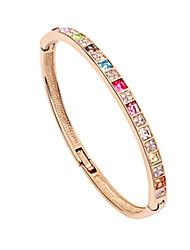 cristal colorido em torno de rim pulseira da moda