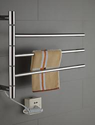 40w braço oscilante em aço inoxidável circular warmmer toalha tubo de secagem cremalheira