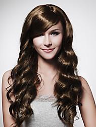 capless longs cheveux bruns bouclés perruque 15 couleurs au choix