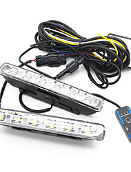 Estilo Euro 2 x 6 W de alta potencia de 6-LED de luces de circulación diurna