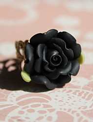 Black Rose From Hell Alloy Gothic Lolita Ring