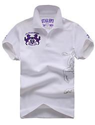 Männer Baumwoll Kurzarm-Polo-T-Shirt
