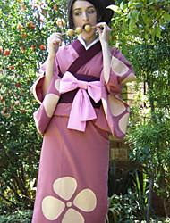 traje cosplay inspirado Samurai Champloo fuu rosa quimono