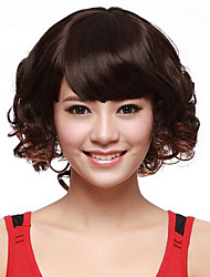 Capless Short Curly Black High Quality Synthetic Hair Wig