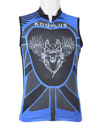 Kooplus 100% Polyester Cycling Vest (Blue/Red Airwolf)