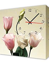 moderno orologio da parete stile floreale in tela
