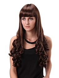 Capless Long Straight Dark Brown Hair Wig