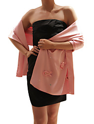 Wedding  Wraps / Shawls Shawls Sleeveless Satin Blushing Pink Party/Evening Flower(s) / Pearls / Sequin