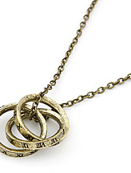 Antique Copper Vintage Rings Necklace