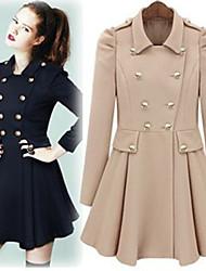 mangas abullonadas señora oscilar abrigo
