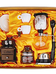 Coffee Series Boxed Gift (Seal & Siphon Pot, Grinder, Cups)T-005