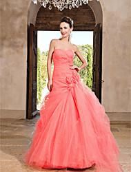 Prom/Formal Evening/Quinceanera/Sweet 16 Dress - Watermelon Plus Sizes Princess/A-line/Ball Gown Sweetheart/Strapless Floor-length Tulle