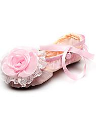 Обувь ручной работы Танцы Canvas сплит-единственный балет тапочки с лентой для детей