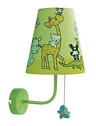 40W Contemporânea tecido leve da parede Crianças com uma luz no padrão animal