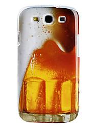 Carcasa Dura de Aspecto de Cerveza Espumosa para el Samsung Galaxy S3 I9300