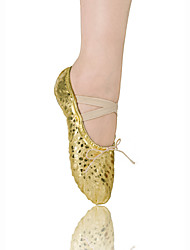 Women's/Kids' Dance Shoes Ballet Leatherette Flat Heel Gold