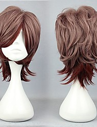 lolita peluca inspirada en cremallera marrón y chocolate mezclado 30cm de color oji
