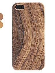 caja dura superficie de madera para el iphone 5/5s (colores surtidos)