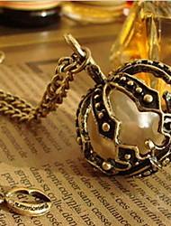 corona de perlas collar babero de la mujer de época