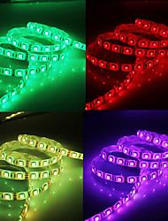 Bande Lumineuse LED avec Télécommande et Adaptateur AC (5 m - 300 x 5050 SMD - Eclairage RVB - 100 à 240 V)