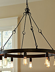 60W E27 Retro Style Iron Pendent Light with 8 Lights