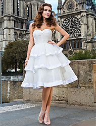 Lanting Ball Gown Plus Sizes Wedding Dress - Ivory Knee-length Sweetheart Organza