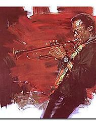 Hand Painted Oil Painting People Jazz Art 1211-PE0139