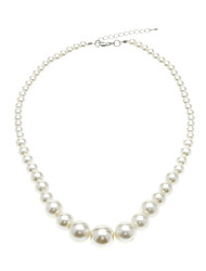 Women's Chain Necklaces Pearl Necklace Circle Pearl Fashion Elegant Bridal White Jewelry For Wedding Party Daily 1pc