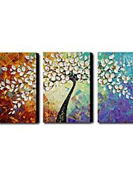 Set main peinture à l'huile abstraite peinte de 3 1211-AB0231