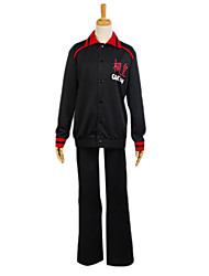 Inspired by Kuroko no Basket Aomine Daiki Anime Cosplay Costumes Cosplay Suits Patchwork Black Long Sleeve Coat / Pants