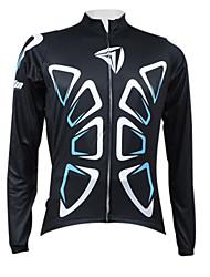 Kooplus Black Butterflies Series Men's Cycling Long Sleeve Jersey