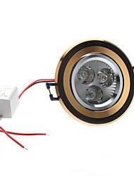 3W 300-330LM 5800-6300K Естественный свет белый черный и золотой Обложка светодиодные потолочные лампы (85-265В)