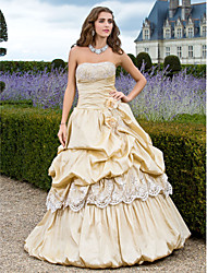 A-Line Strapless Floor Length Taffeta Prom Dress with Beading by TS Couture®