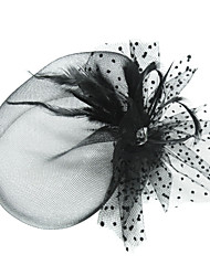 Women's Feather Tulle Headpiece-Special Occasion Birdcage Veils